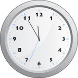 Clock. Face reading about five minutes until twelve Stock Images