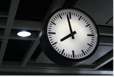 Clock. A Clock in the Subway Station Royalty Free Stock Photos
