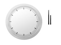 Clock. With seperate hands, let people set timing royalty free illustration