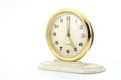 Clock. Old watch showing five o clock royalty free stock photos