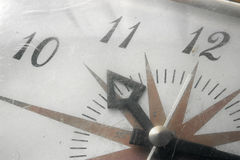 Clock. Hands of an old clock royalty free stock images