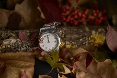 Clock in the absence of a minute to start the new year 2019 royalty free stock photos