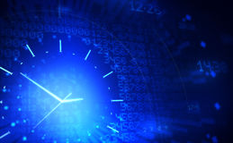 Clock. Abstract background with digital clock Royalty Free Stock Photography