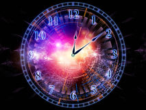 Clock abstraction Stock Image