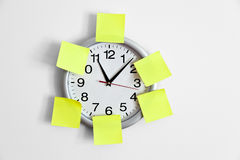 Clock and Adhesive Note Royalty Free Stock Photo