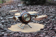 Clock. Airplane Stock Image