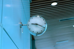 Clock at airport. Time stock images