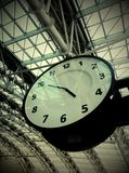 clock in airport Royalty Free Stock Images