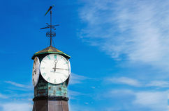 Clock on Aker Brygge in Oslo, Norway Royalty Free Stock Photos