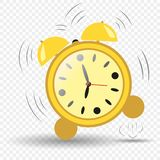 Clock, alarm clock seven hours. Alarm clock jumping. Ringing alarm clock. Vector element isolated background. stock illustration