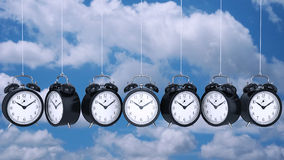 Clock alarm 3D. Time concept. Design made in 3D Royalty Free Stock Photography