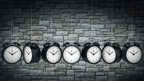 Clock alarm 3D. Time concept. Stock Photos