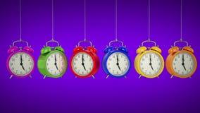 Clock alarm 3D. Time concept. stock footage