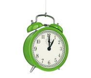 Clock alarm 3D. Time concept. Design made in 3D Royalty Free Stock Photos