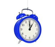 Clock alarm 3D. Time concept. Design made in 3D Stock Photos