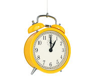 Clock alarm 3D. Time concept. Design made in 3D Stock Images