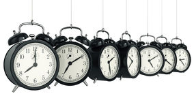 Clock alarm 3D. Time concept. Design made in 3D Stock Photography
