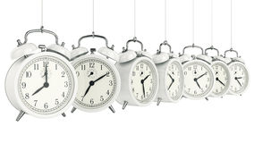 Clock alarm 3D. Time concept. Design made in 3D Royalty Free Stock Image