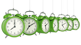 Clock alarm 3D. Time concept. Design made in 3D Royalty Free Stock Photo