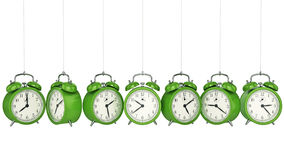 Clock alarm 3D. Time concept. Design made in 3D Royalty Free Stock Images