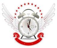 Clock alarm emblem Stock Image