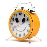 Clock alarm. Isolate on white Stock Photography