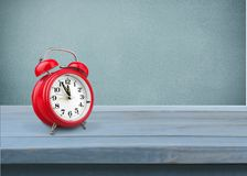 Clock. Alarm old retro violet waking background Stock Images