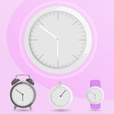 Clock alarm watch vector Stock Photography
