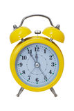 Clock. Alarm , in a yellow box Stock Image