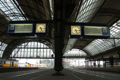 Clock in Amsterdam central station Royalty Free Stock Photos