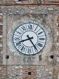 Clock ancient vintage romans number tower city hall stock photography