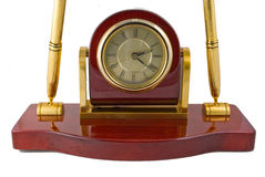 Free Clock And Pen Desk Set Royalty Free Stock Photos - 5818948