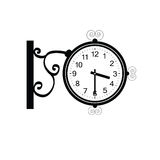 Clock antique beauty black vector Stock Photo