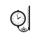 Clock antique black vector Royalty Free Stock Image