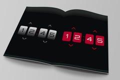 Clock app Magazine Stock Image