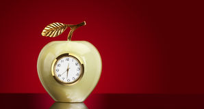 Clock apple Stock Image