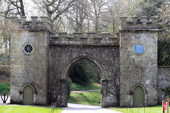 Clock Arch to Stourhead House Royalty Free Stock Image