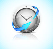 Clock with arrow Royalty Free Stock Images