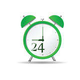 Clock art vector in green Stock Photo
