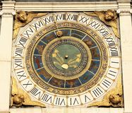 Clock. Astronomical clock in Brescia (Lombardy -Italy royalty free stock images