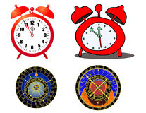 Clock and astronomical clock Royalty Free Stock Photo