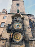 Clock. Astronomical clock in Prague, Czech Republic Stock Photo