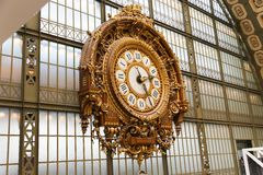 Clock At The Orsay Museum Stock Images