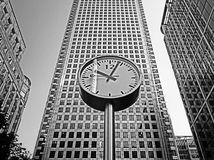 A clock in B&W Royalty Free Stock Images