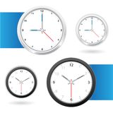 Clock back and white Stock Photography