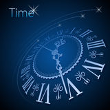 Clock background Royalty Free Stock Photography