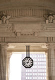 The clock on a background of classical passage Royalty Free Stock Photo