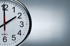 Clock background with copy space Stock Photo