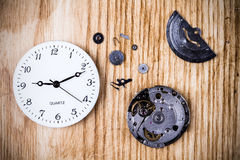 Clock background Stock Image