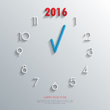 2016 Clock Background.Vector/illustration. 2016 Clock Background.Vector/illustration Stock Images